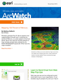 read the ArcWatch Nov. 2015 issue