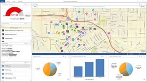 Workbook readers will learn how to monitor live data using Operations Dashboard for ArcGIS.