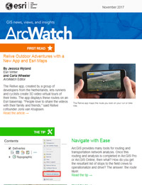 read the ArcWatch November 2017 issue