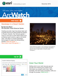 read the ArcWatch December 2016 issue