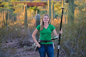 GIS specialist Veronica Nixon relies on her geospatial toolkit when she does field work at Desert Botanical Garden.