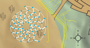 Layout specifications for the Bruce Munro Water-Towers installation were converted to a scale model in ArcGIS Desktop's ArcMap application in order to select the best location for the exhibit with respect to saguaro root zones, topographic features, and underground utilities.