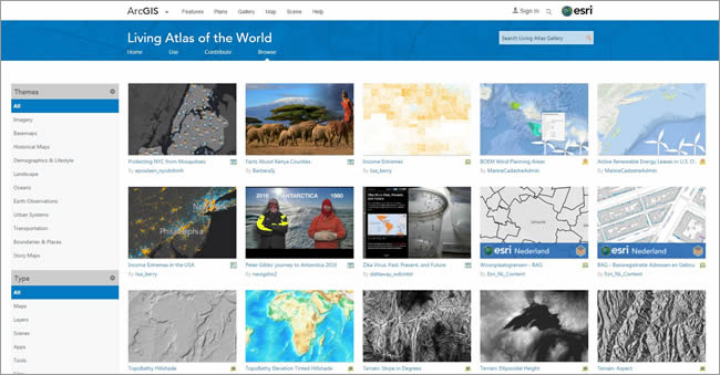 Living Atlas of the World website