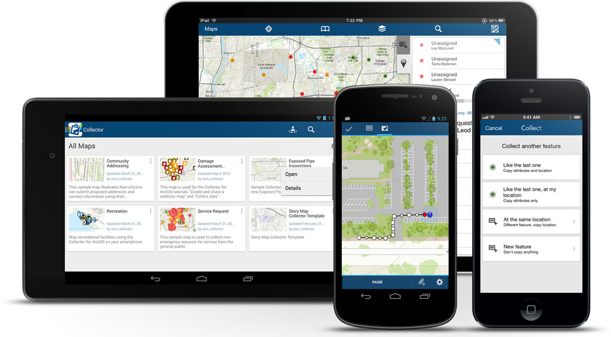 At version 10.2, Collector for ArcGIS includes an updated user interface, improved data management, and support for iPads and Android tablets.