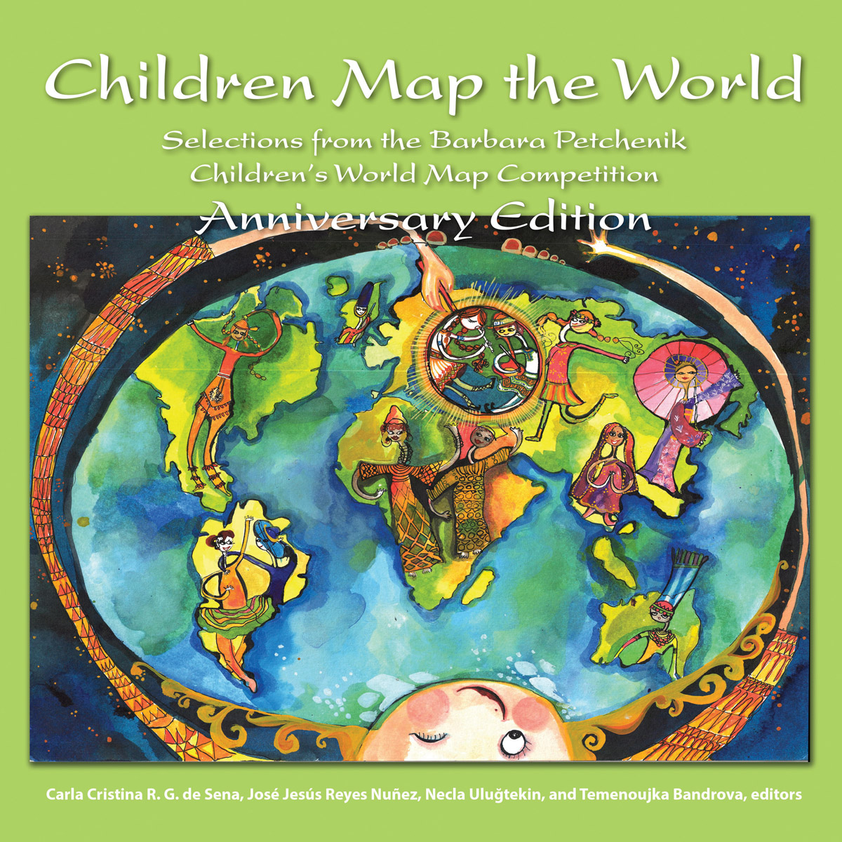 This anniversary edition includes 70 maps and pieces of geographic art from the Barbara Petchenik Children's World Map Competition, sponsored by the International Cartographic Association (ICA).