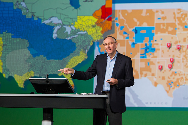 """We have millions of users around the globe who do amazing things with our technology every day,"" said Esri president Jack Dangermond."