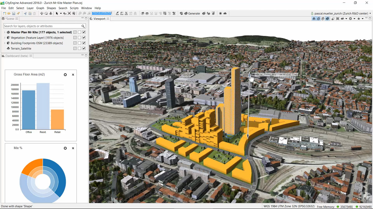 Esri's City Engine 2016 can design buildings and allows the consumption of elevation and basemaps from ArcGIS Online.