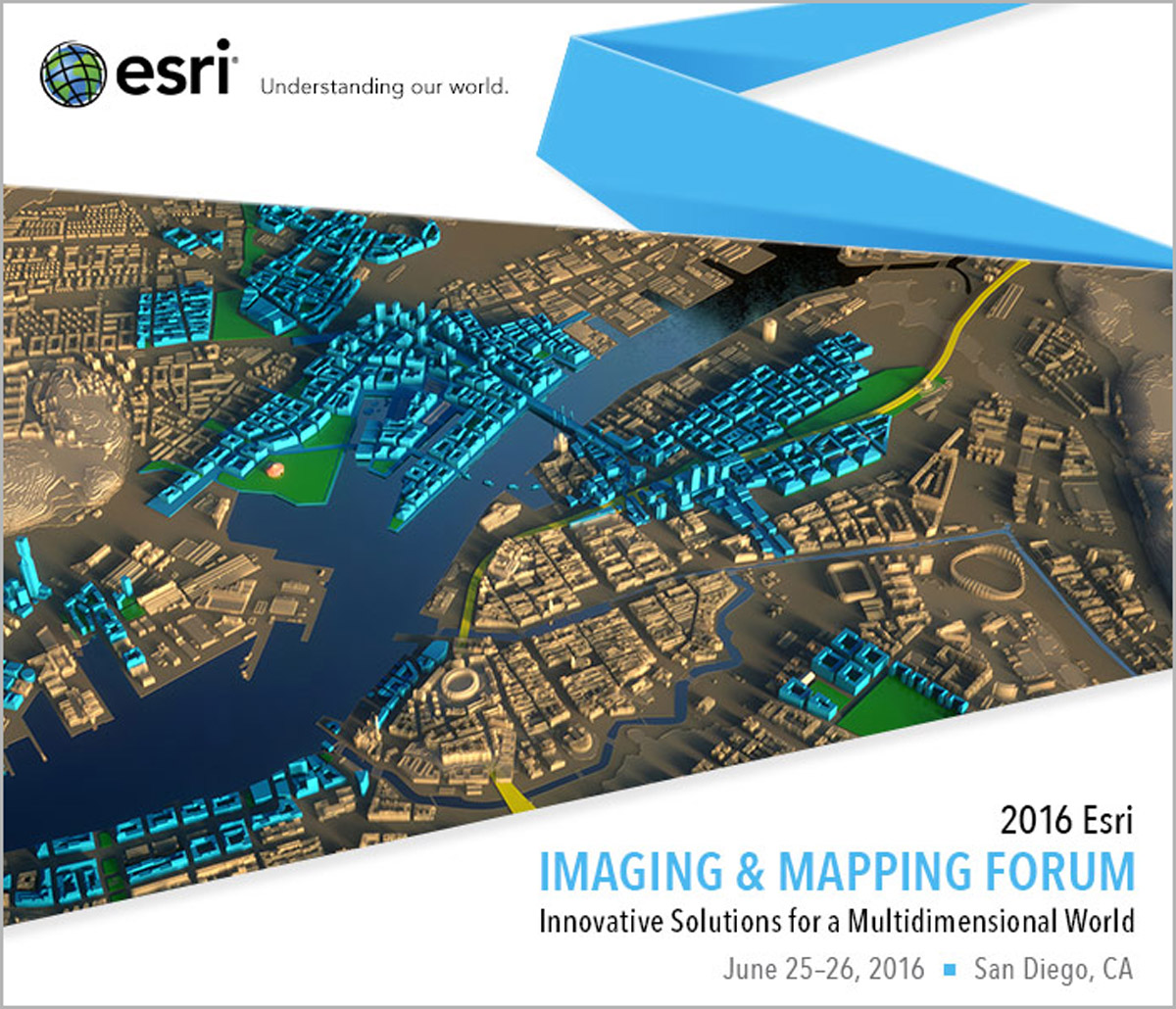 See the future of drone mapping platforms at Esri's Imaging and Mapping Forum.