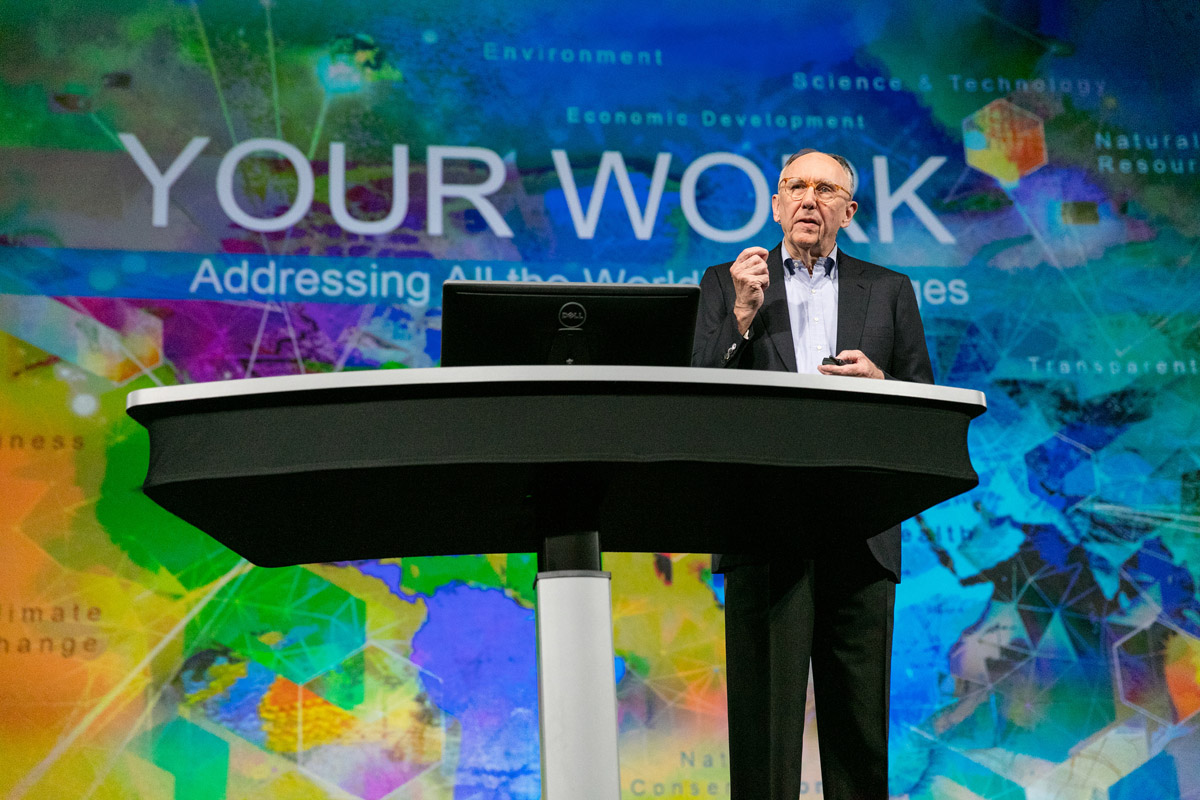 Jack Dangermond Speaking at the 2016 Esri User Conference