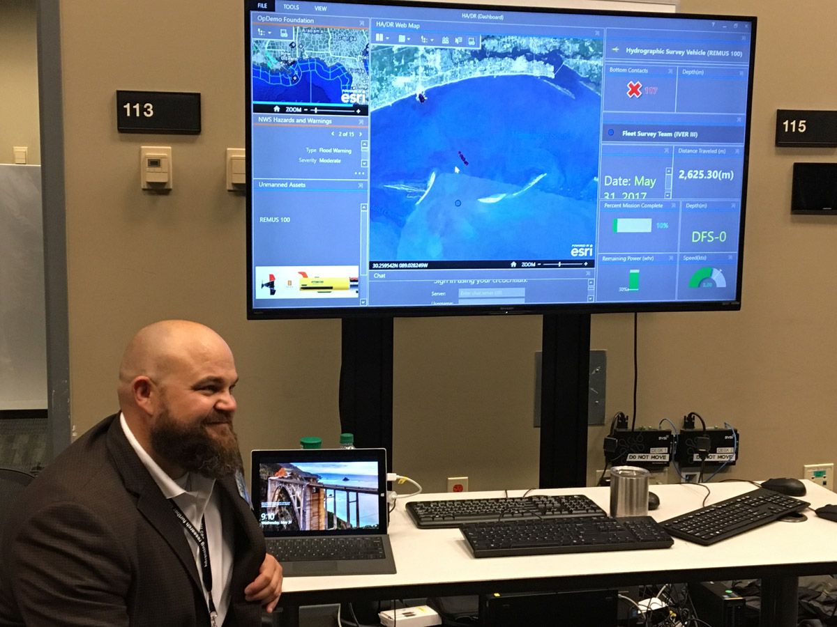 With Esri's software, NMOC can analyze data collected from the ocean.