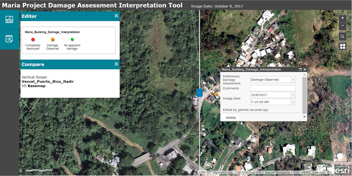 Maria Project Damage Assessment Interpretation Tool
