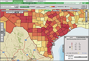 EPA GeoPlatform serves data, maps, and reports to EPA management and staff.